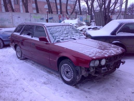 БМВ в разборе.  МКПП.  Схема проезда.  Автомобили на продажу.  БМВ 525 Е34 универсал.  О компании.  1993г.